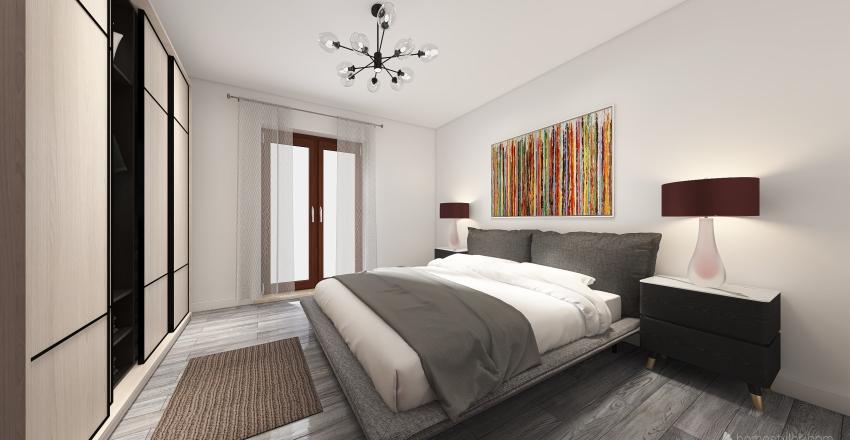 Flat renovation in Rome Interior Design Render