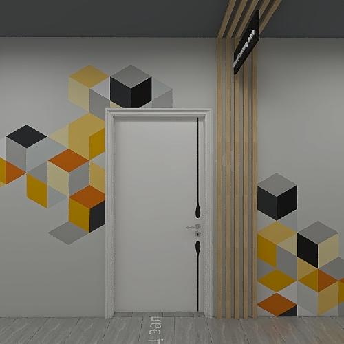 Коворкинг Лестница Коридор Interior Design Render