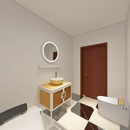 One bed one bath Interior Design Render