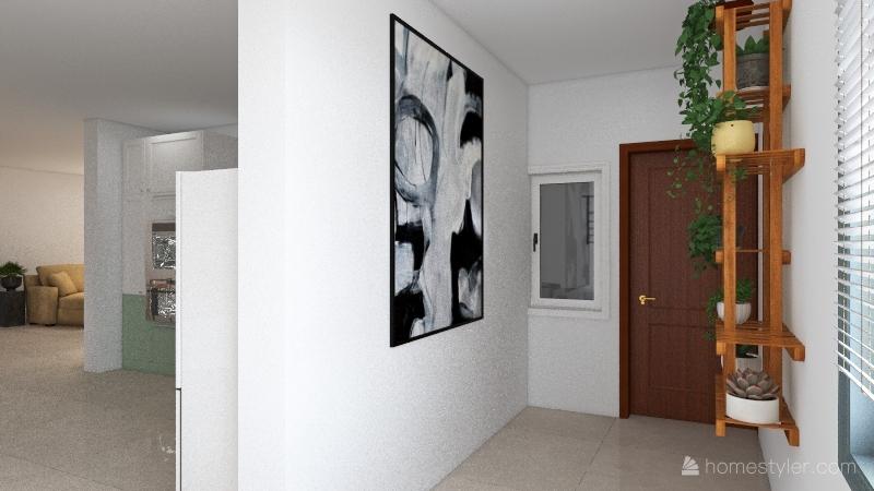 Apartamento de Edificio Interior Design Render