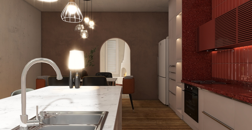 The Japani Tangerine Apartment Interior Design Render