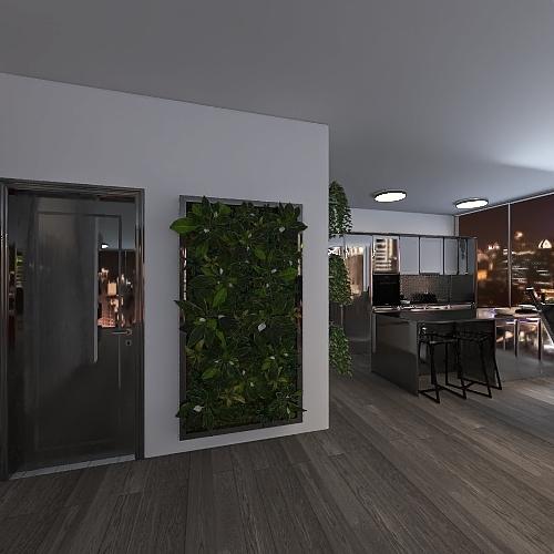 Tiny City Apartment Interior Design Render