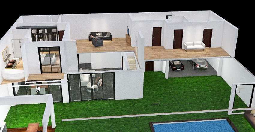 Copy of FPD CASA 14MTS gradas a la derecha 12abr021 Interior Design Render