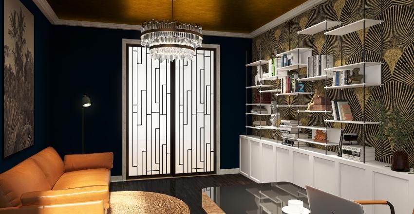 Oficina Art-Deco Interior Design Render