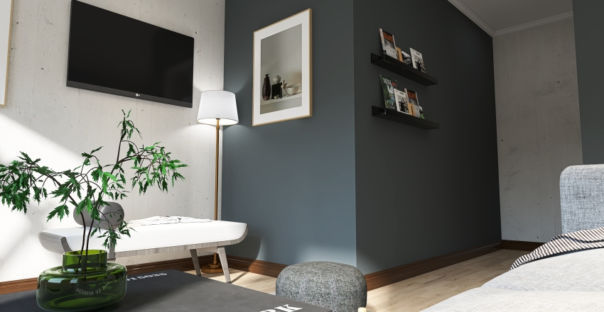 Moody San Francisco Interior Design Render