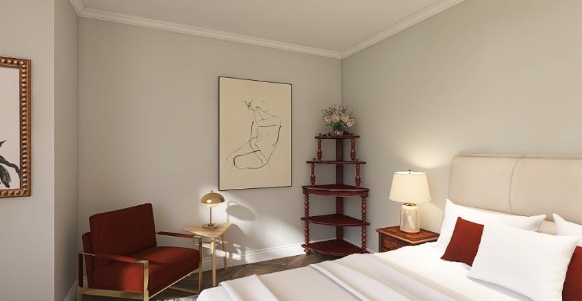 modern home in warm tones Interior Design Render