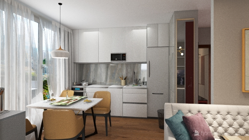 v6.1.1_кухня3 Хол у стены Interior Design Render