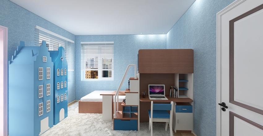 квартира студия Interior Design Render