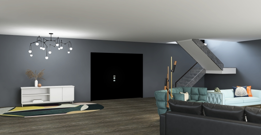First Double Story House Interior Design Render