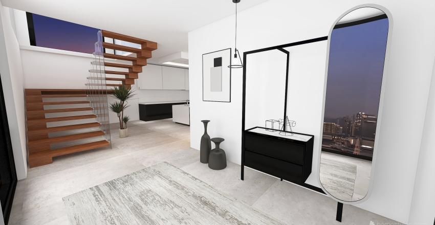 Moderno y minimalista Interior Design Render