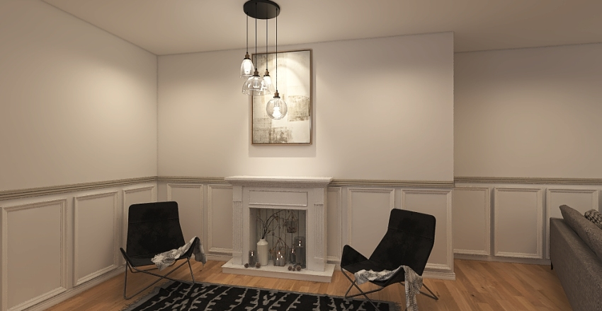 Vintage/Modern Interior Design Render