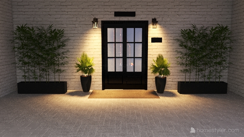 واجهة المحل Interior Design Render