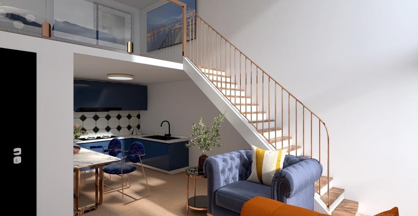 Loft amueblado Final Interior Design Render