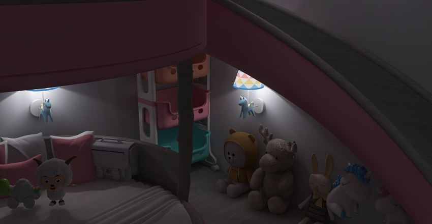 Cute Bedrooms Interior Design Render