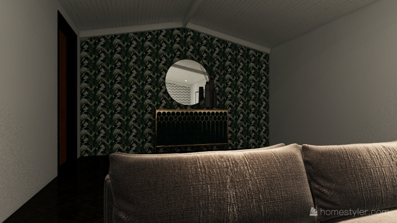 GOLD BLACK N' GREEN Interior Design Render