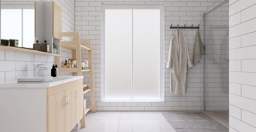 Modern Scandinavian Apartment Interior Design Render