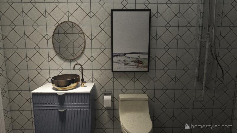 1 Bed 1 Bath Apartment - Anaya Parikh Interior Design Render