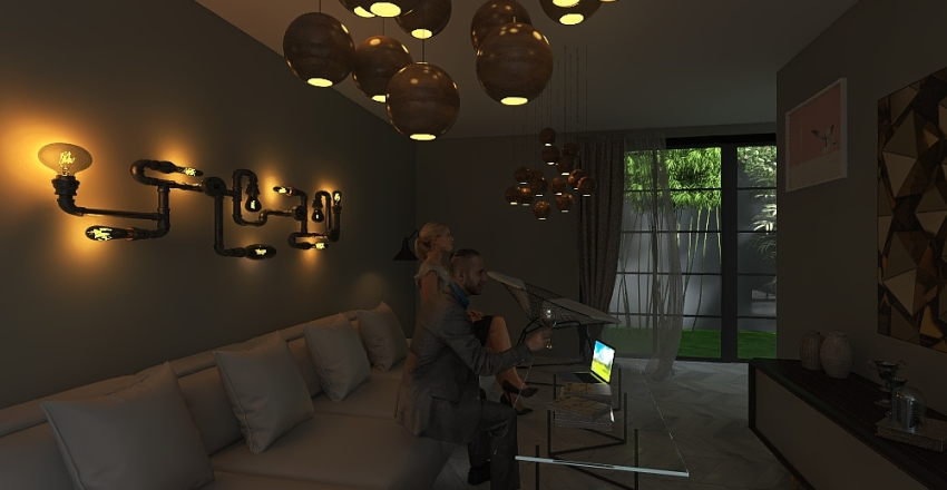 So deep in the forest Interior Design Render