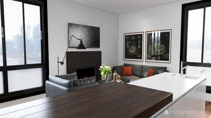 500sq-ft-challenge Interior Design Render