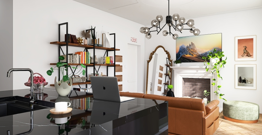 Flat in Barcelona Interior Design Render