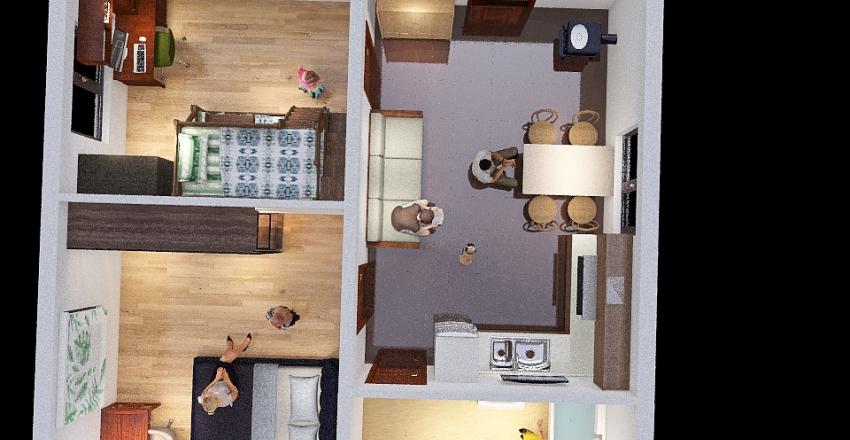 Дом 4 2 этажа Interior Design Render