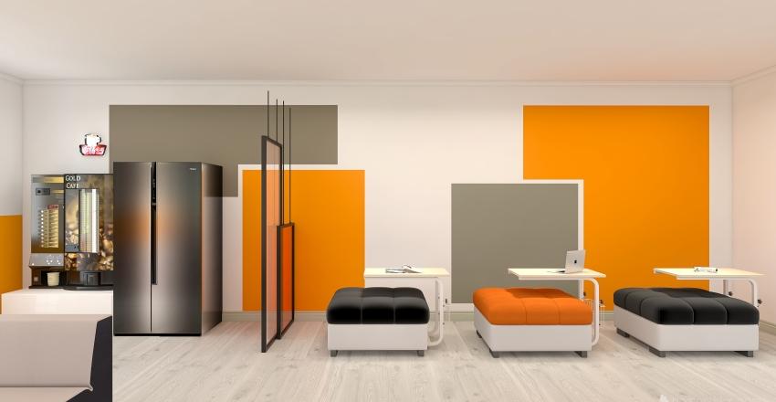 SPAZIO POLIFUNZIONALE PER STUDENTI Interior Design Render