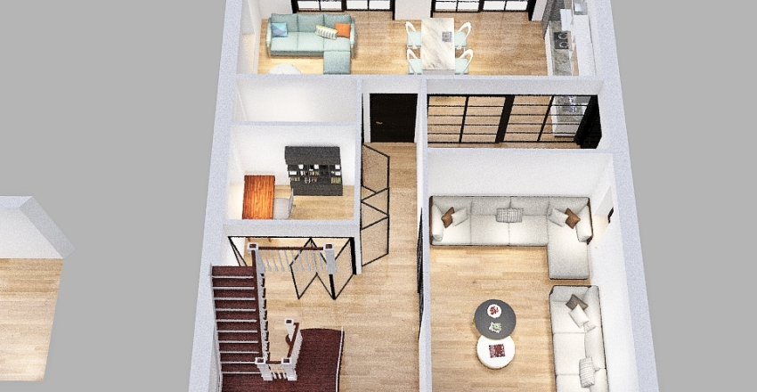 UmayrIqbal- First Floor_1 Interior Design Render