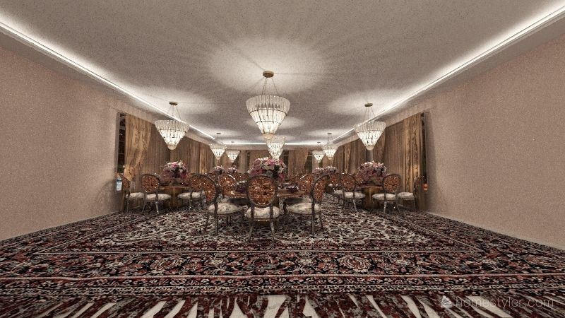 wedding reception Interior Design Render