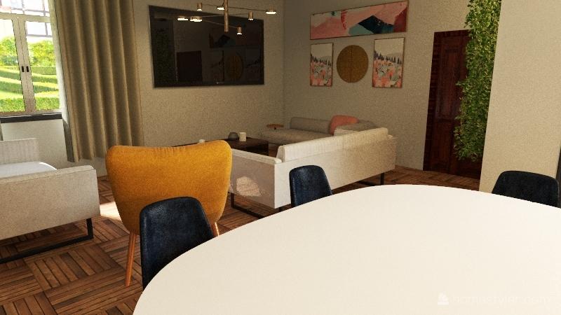 Liberty modern Interior Design Render