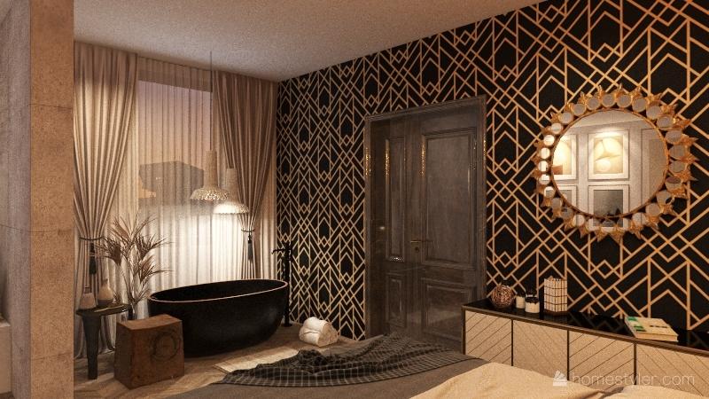 Japandi Interior Design Render