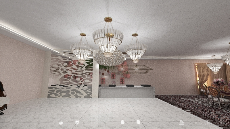 wedding reception Interior Design Render