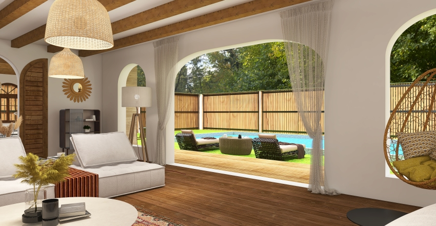 house in the woods 2 Interior Design Render