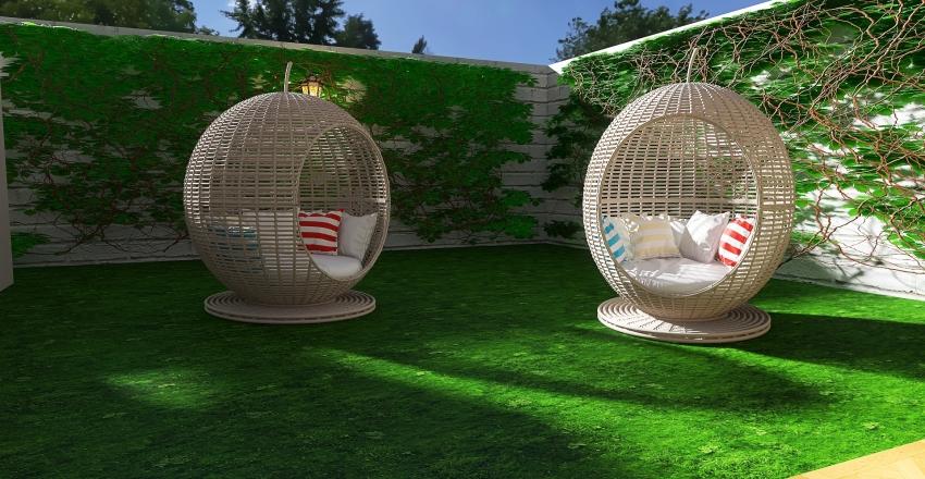 outdoor patio Interior Design Render