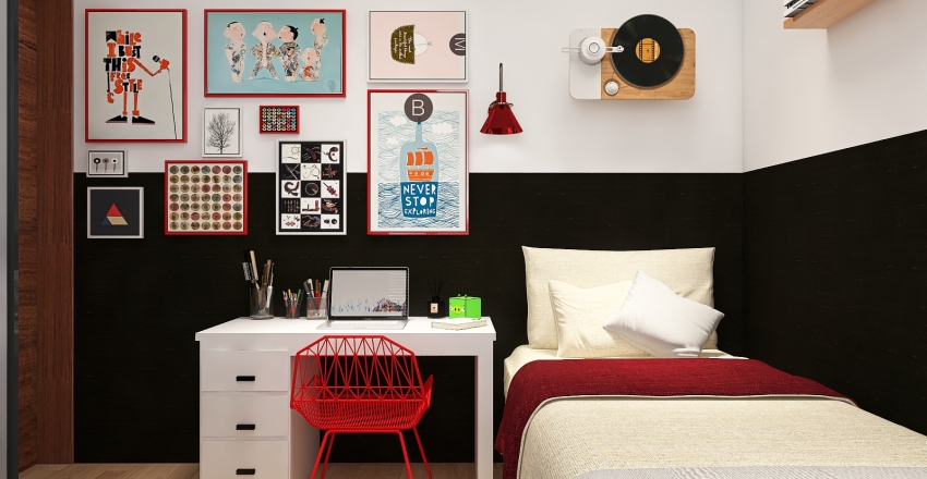 Projeto Dormitório Interior Design Render