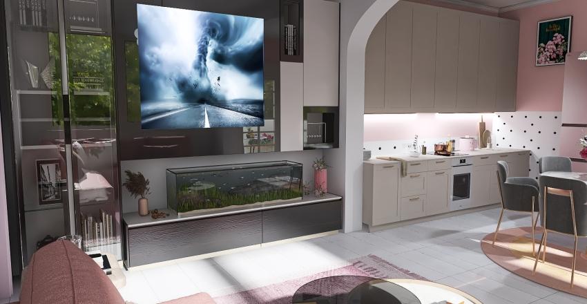 Saku Japandi Style Interior Design Render