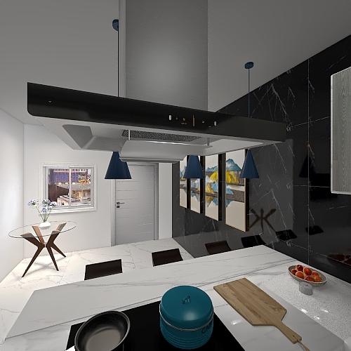 Casa - Primeiro Andar (Floor 1) Interior Design Render