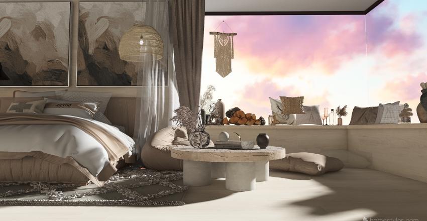 Master Bedroom - lil beach hut life Interior Design Render