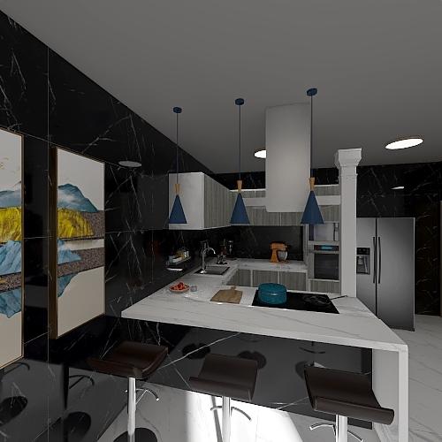 casa primeiro andar Interior Design Render