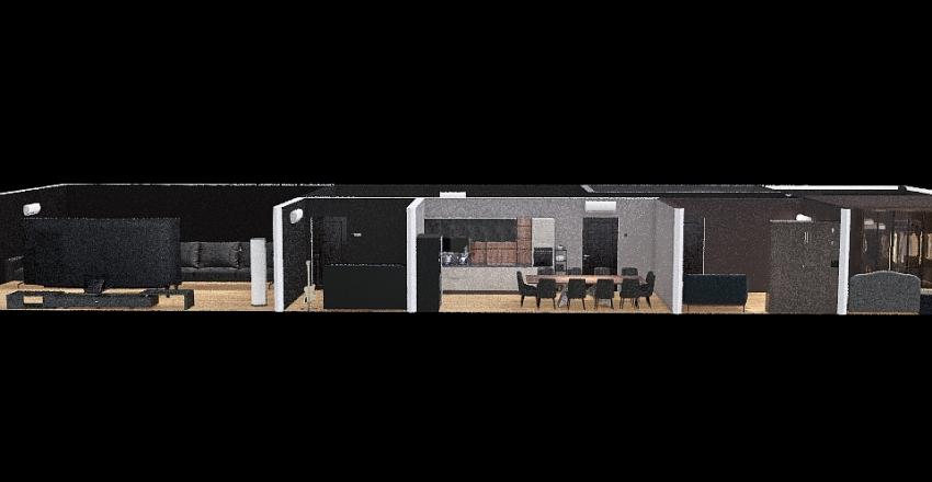 purple house Interior Design Render