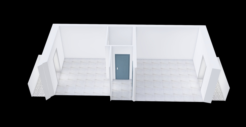 Via Genova apt. 1.2 inverted Interior Design Render
