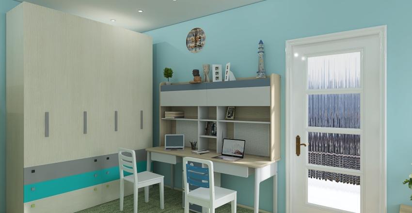 квартира для молодой семьи с дет Interior Design Render