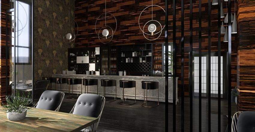 London Restaurant Interior Design Render