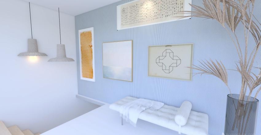 Island Home Interior Design Render