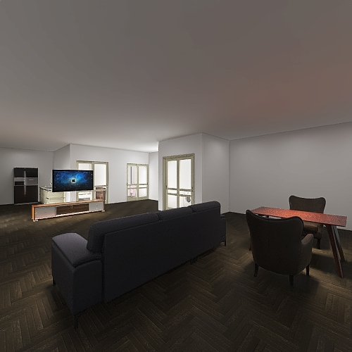 one bed/one bath Interior Design Render