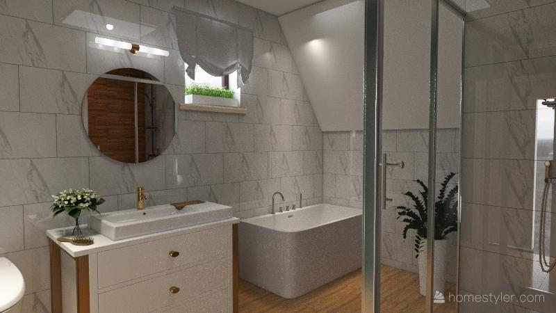 toilet Interior Design Render