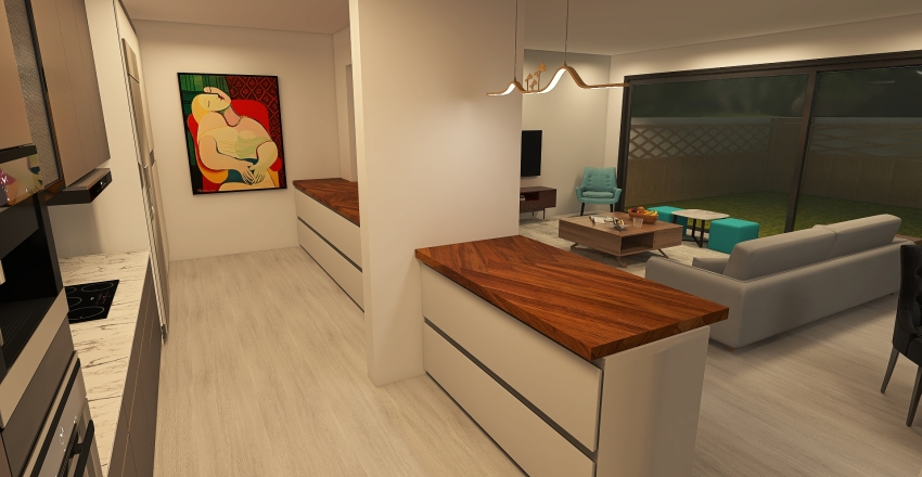 Modern GF extension Interior Design Render