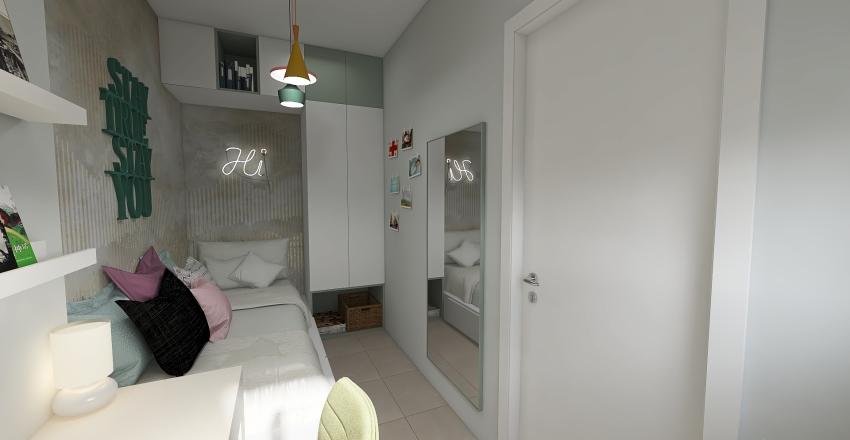 teenage bedroom_RENOVATION_LARISA_GREECE Interior Design Render