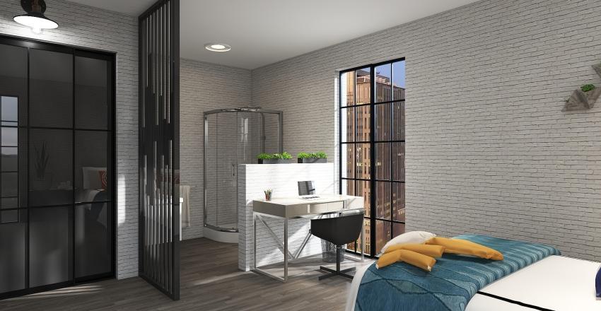 family loft Interior Design Render