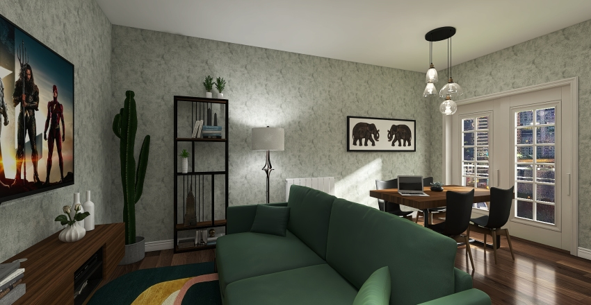 59mq in Milano Interior Design Render