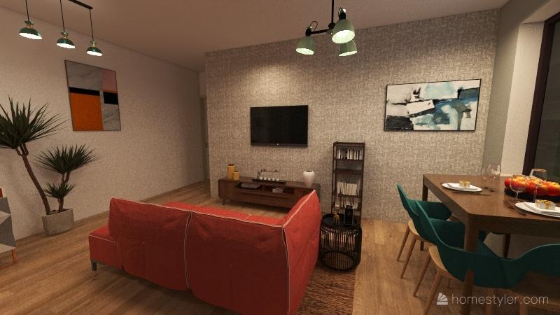 appartamento I che sara speculate al G, 1 piano palazzina 1 con ascensore Interior Design Render